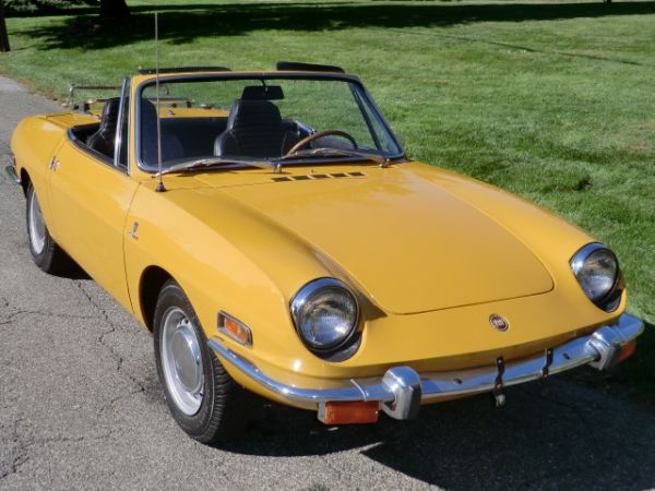 1969 Fiat 850 Spider http://totallythatstupid.com/2013/01/12/1970-fiat-850-spider-uptick-in-values-for-clean-survivors/