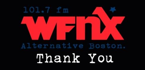 WFNX Thank You