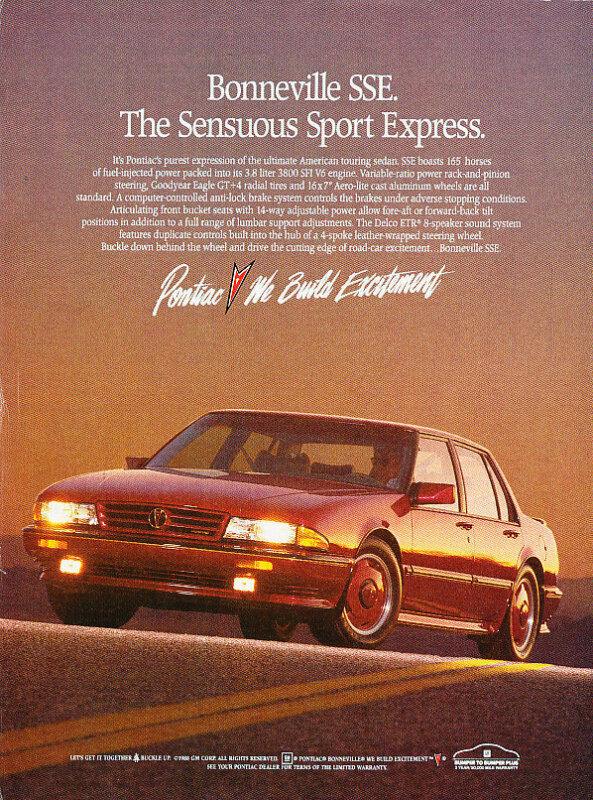 1989 Bonneville Ad